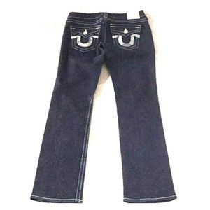 "True Religion Billy Silver Sequin Jeans 29"" x 32"""